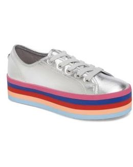Rainbow Stacked Platform Sneaker