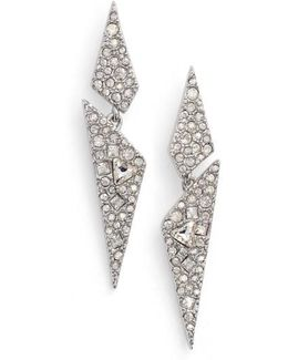 Crystal Encrusted Dangling Drop Earrings