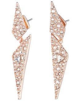 Crystal Encrusted Dangling Drop Earrings