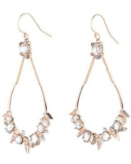Crystal Encrusted Mosaic Drop Earrings