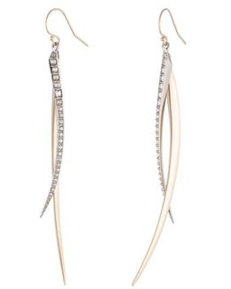 Two-tone Crystal Drop Earrings