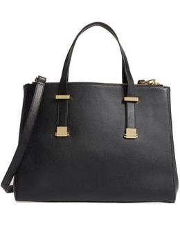 Large Alunaa Convertible Leather Tote