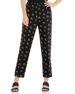 Fluent Flowers Slim Leg Pull-on Pants