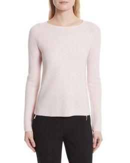 Karina Waffle Knit Cashmere Sweater