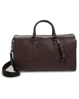 Panthea Leather Duffel Bag - Purple