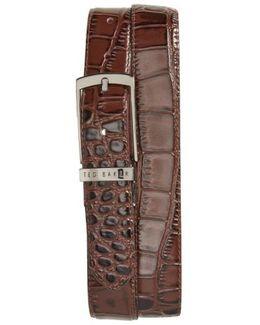Sunflow Reversible Leather Belt