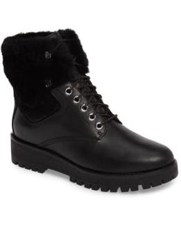 Teddy Water Resistant Boot With Genuine Shearling Trim