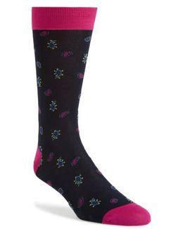 Paisley Mercerized Socks