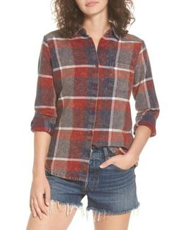 Pops Cotton Plaid Shirt