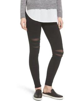 Slashed High Waist Leggings