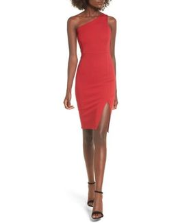 One-shoulder Body-con Dress