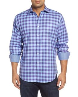 Classic Fit Woven Check Sport Shirt