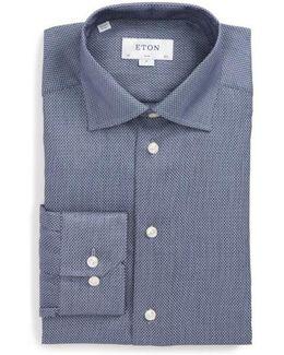 Slim Fit Microprint Dress Shirt