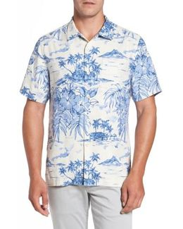 Destination Hawaii Classic Fit Silk Camp Shirt