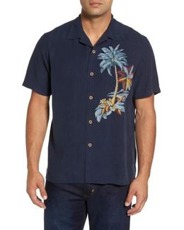 Moonlight Palms Silk Camp Shirt