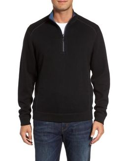 Flip Side Reversible Quarter Zip Pullover