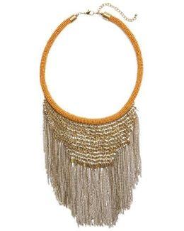 Antique Fringe Bib Necklace