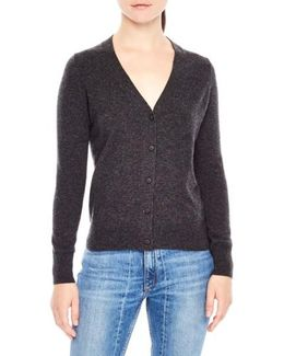 Tie Back Wool & Cashmere Cardigan