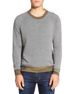 Champ Printed Camo Rib Eco-fleece Sweatshirt