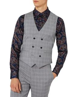 Charlie Casely-hayford X Skinny Fit Check Suiting Vest