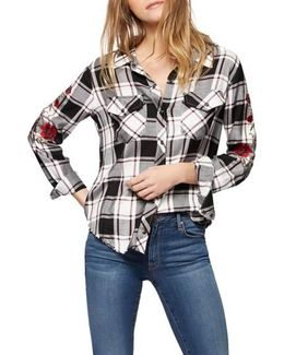 Clint Embroidered Plaid Shirt
