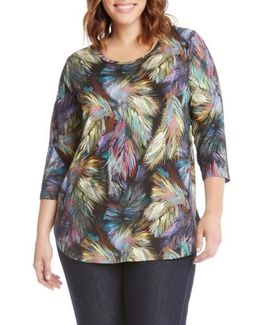 Palm Print Shirttail Tee