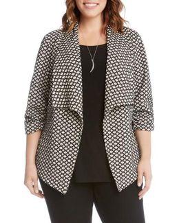 Ruched Sleeve Jacquard Jacket