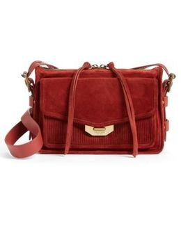 Small Bomber Leather Crossbody Bag