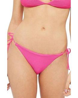 Ribbed Tie Bikini Bottoms