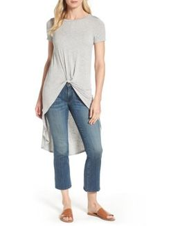 Knot Front High/low Tee