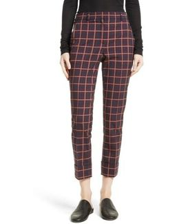 York Plaid Cuffed Crop Pants