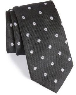 Kaleri Neat Diamond Grid Silk Tie