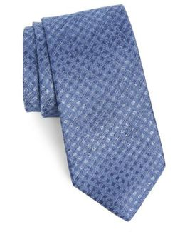 Porter Check Silk Tie