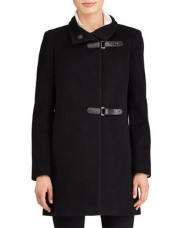 Buckle Wool Blend Coat