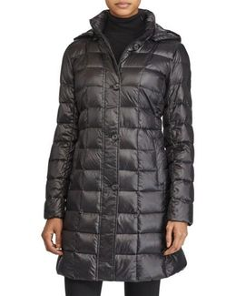 Packable Down Coat, Black