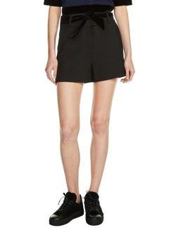 Velvet Tie Shorts