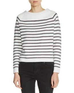 Bow Back Stripe Sweater