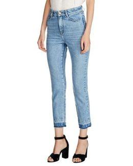 High Waist Straight Crop Jeans