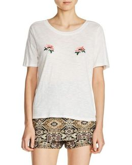 Floral Embroidered Tee