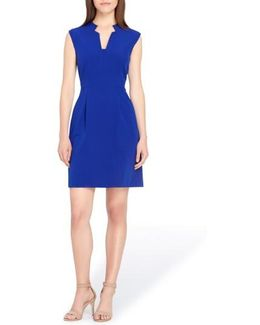 Notch Neck Sheath Dress