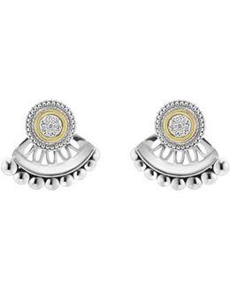 Caviar Diamond Stud Earrings