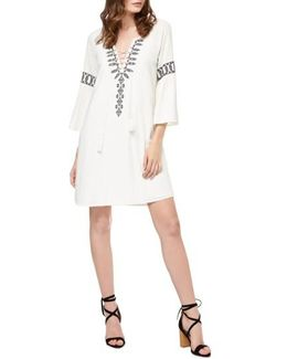Lucie Embroidered Shift Dress