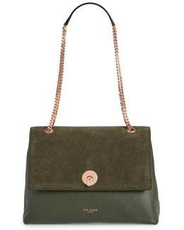 Sophina Suede Shoulder Bag