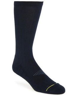 Zerogrand Ribbed Crew Socks