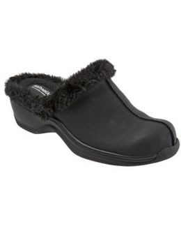 Softwalk Abigail Clog With Faux Shearling Trim