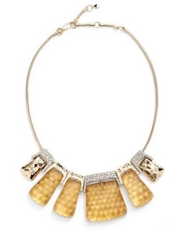 Lucite Crystal Accent Crystal Collar Necklace