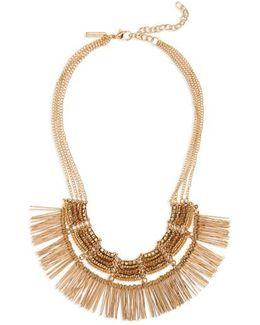Beaded Fringe Collar Necklace