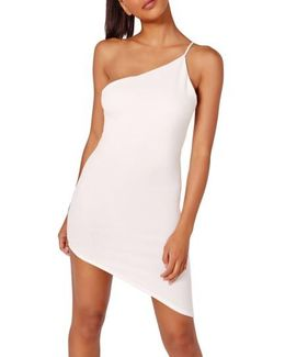 Asymmetrical One-shoulder Body-con Dress