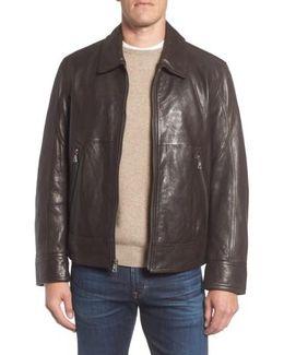 Marc New York Morrison Spread Collar Leather Jacket