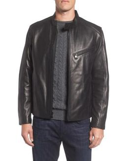 Marc New York Gibson Slim Leather Moto Jacket